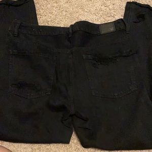 American eagle black Tomgirl size 8 jeans